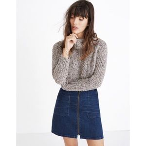 Madewell Denim Utility Zip Skirt
